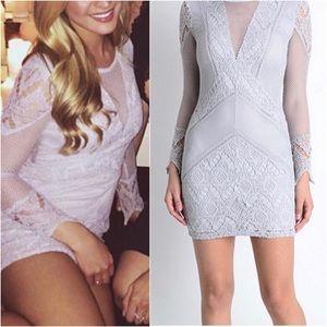 Dresses & Skirts - Nellis - Grey Crochet Mini Dress
